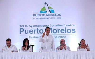 Asiste el Gobernador Carlos Joaquín a la Toma de Protesta de Laura Lynn Fernández Piña, presidenta Municipal de Puerto Morelos