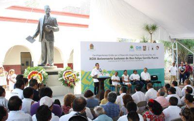 ((FOTOS)) Ceremonia conmemorativa del XCIII Aniversario Luctuoso de Felipe Carrillo Puerto.