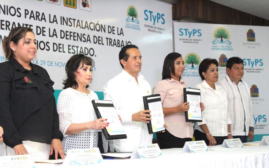 ((Video)) Carlos Joaquín en la firma de convenios con municipios para la Instalación de la Procuraduría Itinerante de la Defensa del Trabajo.