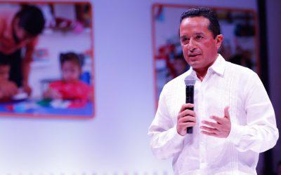 ((VIDEO))  El Gobernador Carlos Joaquín en la ceremonia de autorización de validez oficial para entregar constancia de primer año de preescolar en las Guarderías del IMSS en Quintana Roo