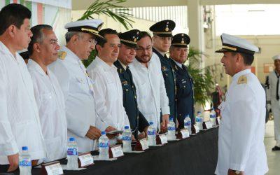 ((VIDEO)) El Gobernador Carlos Joaquin asiste a la Ceremonia de entrega de ascensos y condecoraciones de la Secretaría de Marina, Ejército y Fuerza Aérea Mexicanos