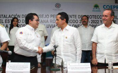 ((VIDEO)) Mensaje del Gobernador Carlos Joaquín durante la Instalación del Consejo Permanente de Protección Civil.
