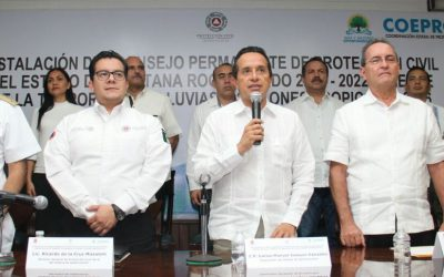 ((FOTOS))  El Gobernador Carlos Joaquín encabeza la Instalación del Consejo Permanente de Protección Civil.