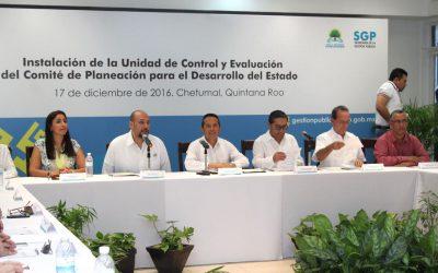((FOTOS)) El Gobernador Carlos Joaquín encabeza la instalación de la Unidad de Control y Evaluación del Comité de Planeación para el Desarrollo Estatal.