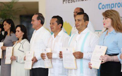 ((VIDEO)) Presentación de las declaraciones 3 de 3 del Gabinete legal, en Chetumal