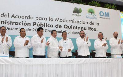 ((VIDEO)) Mensaje del Gobernador Carlos Joaquín durante la Firma del Acuerdo para la Modernización de la Administración Pública de Quintana Roo.
