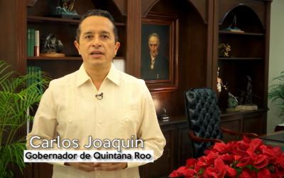 ((Video)) Mensaje del Gobernador Carlos Joaquín de felicitación por la Navidad y el Fin de Año