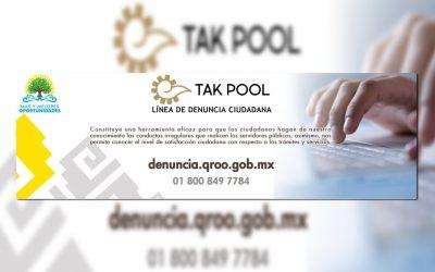 """((Video)) SPOT Presentación de la """"Línea de Denuncia Ciudadana"""" Tak Pool"""