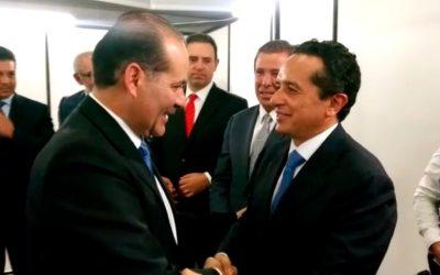 ((VIDEO)) El Gobernador de Quintana Roo Carlos Joaquín asiste como invitado especial a la toma de protesta del Gobernador de Aguascalientes, Martín Orozco Sandoval.