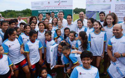 ((FOTOS)) El Gobernador Carlos Joaquín da el banderazo de inicio de obras de Rehabilitación del Centro Estatal Deportivo de Alto Rendimiento (CEDAR)
