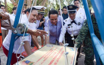 ((AUDIO)) Mensaje del Gobernador Carlos Joaquín en la colocación de la primera piedra del edificio de la Policía Federal Preventiva, en Playa del Carmen