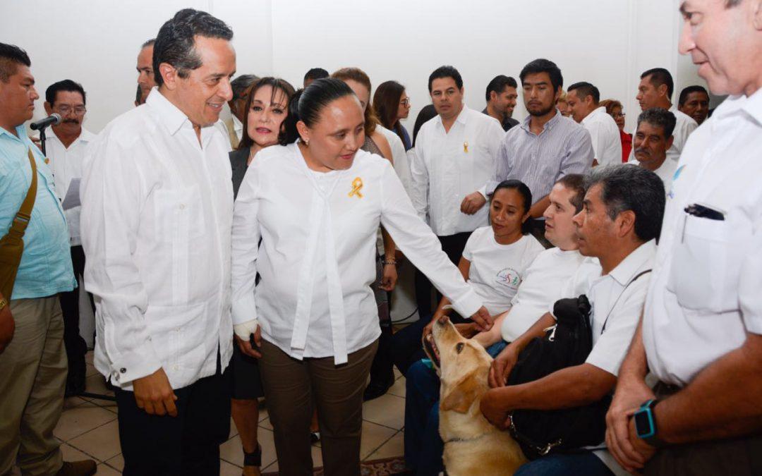 ((FOTOS)) El Gobernador Carlos Joaquín encabezará el Convenio de Colaboración entre el H. Ayuntamiento de Solidaridad y la Secretaría del Trabajo y Previsión Social del Estado e Inicio de Acciones del Programa de Apoyo al Empleo 2017