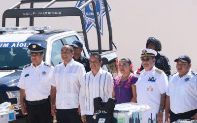 ((AUDIO)) Mensaje del Gobernador Carlos Joaquín durante la entrega de equipamento a la Dirección General de Seguridad Pública y Tránsito de Isla Mujeres