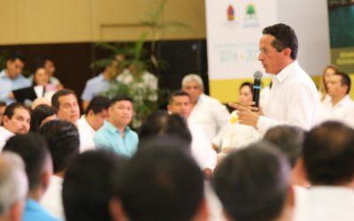 ((AUDIO)) Mensaje del Gobernador Carlos Joaquín en la presentación del Plan Estatal de Desarrollo 2016-2022 para Quintana Roo.