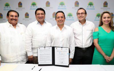 ((FOTOS)) El Gobernador Carlos Joaquín en la firma del Acuerdo de adhesión entre la fiscalía y los tres poderes del estado
