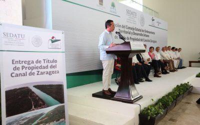 ((AUDIO)) Mensaje del Gobernador Carlos Joaquín durante la instalación del Consejo de Ordenamiento Territorial del Estado de Quintana Roo y firmas del Convenio Marco de Coordinación para el Desarrollo y Ejecución de Acciones en Materia de Ordenamiento Territorial