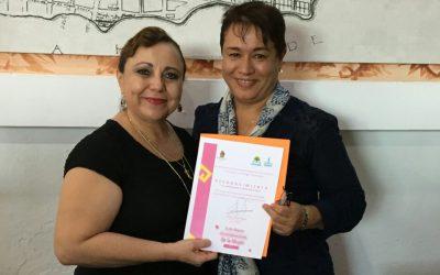 Entrega reconocimientos Alicia Ricalde Magaña a las mujeres trabajadoras de la APIQROO