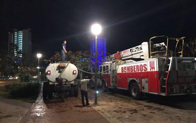 Participa CAPA en acciones de apoyo para mitigar el incendio en el malecón Tajamar