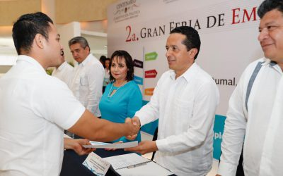 ((FOTOS)) El Gobernador Carlos Joaquín inaugura la 2ª Gran Feria de Empleo y Servicios Laborales en Chetumal
