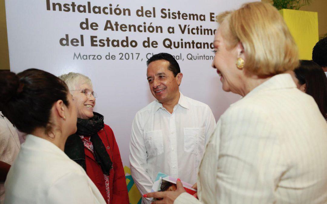 ((FOTOS)) El Gobernador Carlos Joaquín preside la instalación y toma de protesta del Sistema Estatal de Atención a Víctimas