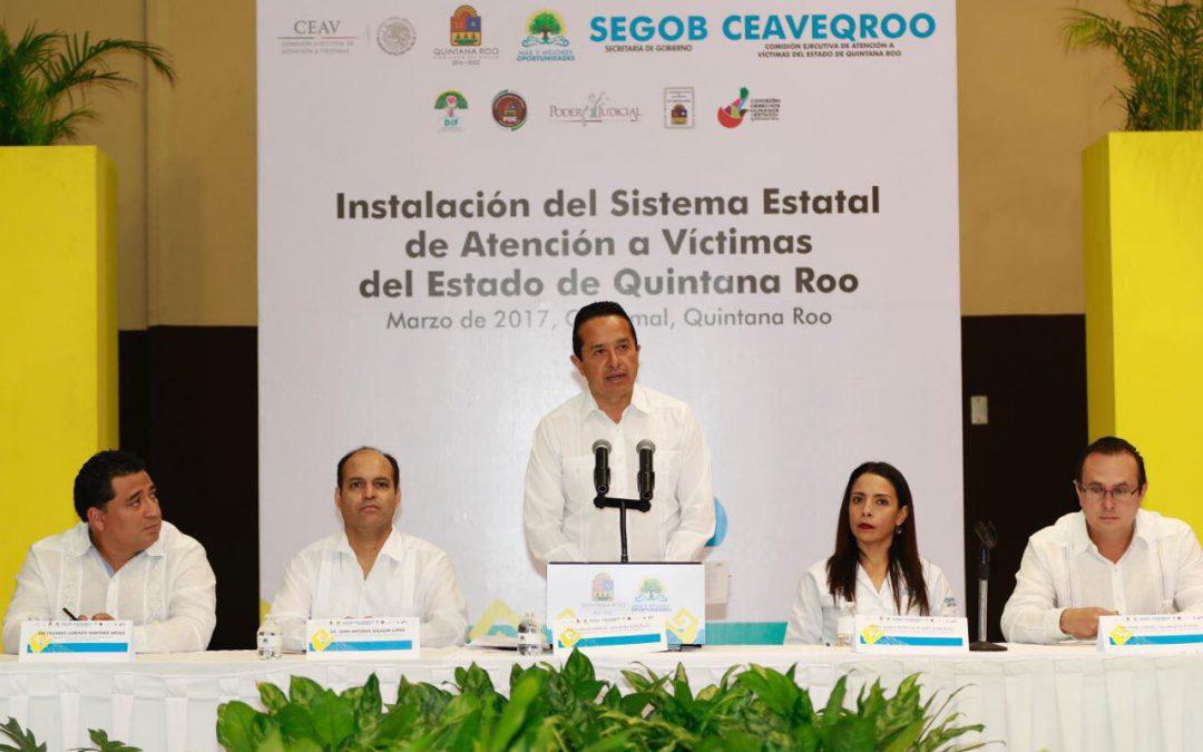 ((VIDEO)) El Gobernador Carlos Joaquín preside la instalación y toma de protesta del Sistema Estatal de Atención a Víctimas
