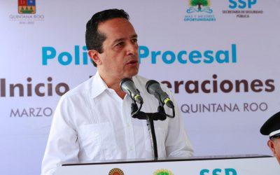 ((VIDEO)) El Gobernador Carlos Joaquín encabeza el inicio de operaciones de la Policía Procesal en Chetumal