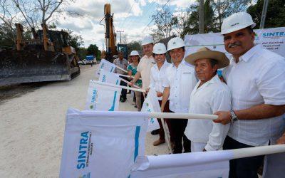 Para atender la desigualdad, Carlos Joaquín inicia la modernización de la carretera Chun Yah-Yodzonot Chico, en la zona Maya