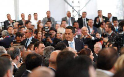 [FOTOS] El Gobernador Carlos Joaquín asiste al Quinto Informe del Gobernador de Guanajuato, Miguel Márquez Márquez.