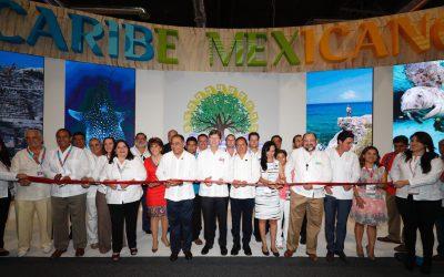 ((FOTOS)) El Gobernador Carlos Joaquín en el pabellón Caribe Mexicano del Tianguis Turístico 2017