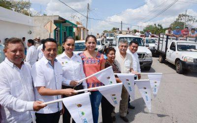 ((VIDEO)) El Gobernador Carlos Joaquín pone en marcha la Jornada de fortalecimiento de servicios de salud y entrega de vehículos en Kantunilkín.