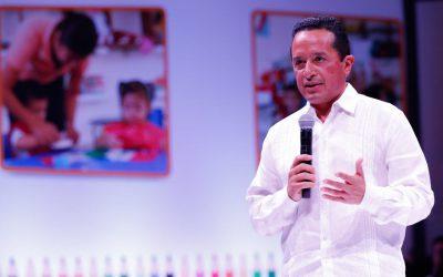 ((AUDIO)) Mensaje del Gobernador Carlos Joaquín en la ceremonia de autorización de validez oficial para entregar constancia de primer año de preescolar en las Guarderías del IMSS en Quintana Roo.