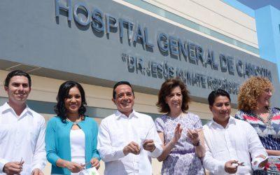Histórica inauguración de moderna infraestructura hospitalaria para los quintanarroenses: Carlos Joaquín