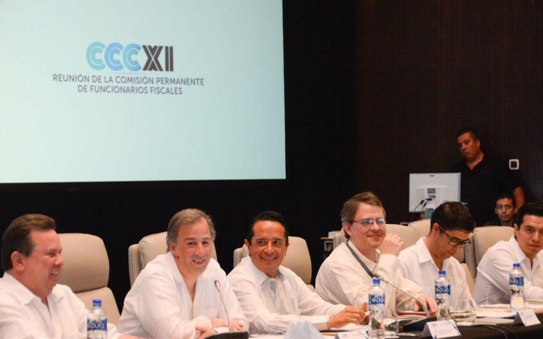 ((AUDIO)) Mensaje del Gobernador Carlos Joaquín durante la inauguración de la Reunión de la Comisión Permanente de Funcionarios Fiscales, en Cancún