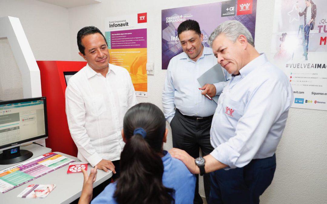 ((FOTOS)) El Gobernador Carlos Joaquín encabeza la Inauguración del Módulo de Grandes Empleadores Infonavit