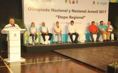 Chetumal se viste de gala con la inauguración de la etapa Regional de Olimpiada 2017 de Levantamiento de Pesas y Tiro Deportivo