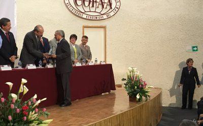 Recibe reconocimiento director general del Coqcyt, Víctor Alcérreca Sánchez