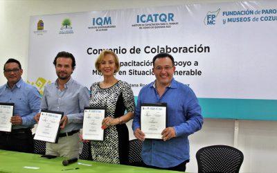 Convenio en apoyo a mujeres cozumeleñas en situación vulnerable