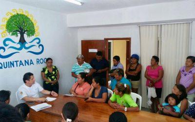 Trabajo unido y coordinado, ciudadanía y gobierno, para más y mejores servicios a familias de Cozumel