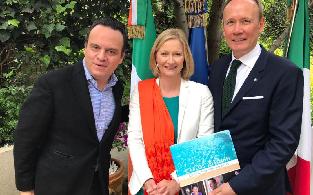 En respuesta a la invitación de la Embajada de Irlanda en México la representación del Gobierno de Quintana Roo en la Ciudad de México asiste a la conmemoración del Día de San Patricio