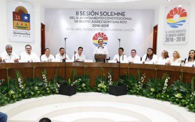 ((FOTOS)) El Gobernador Carlos Joaquín en la Sesión Solemne de conmemoración del 47 aniversario de Cancún