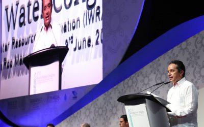 ((VIDEO)) Mensaje del Gobernador Carlos Joaquín al presidir la Ceremonia de Inauguración del XVI Congreso Mundial del Agua. Cancún.