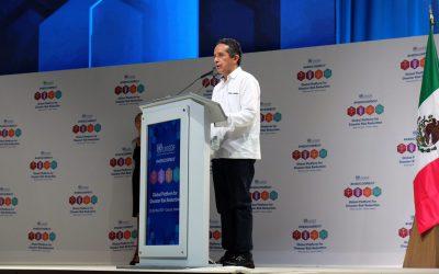 ((VIDEO)) El Gobernador Carlos Joaquín en la ceremonia de clausura de la Plataforma Global para Reducción del Riesgos de Desastre 2017. Cancún.
