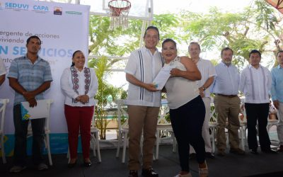 """((FOTOS)) El Gobernador Carlos Joaquín en la presentación del Programa Emergente para la Vivienda Digna """"Lotes con Servicios"""" en Cozumel"""