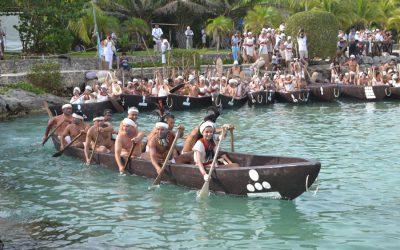 Los canoeros regresan a Polé con el mensaje de Ixchel