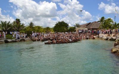 Chankanaab está listo para recibir a los canoeros de la travesía sagrada Maya