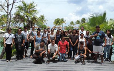 La FPMC recibe visita de estudiantes de biología en Chankanaab