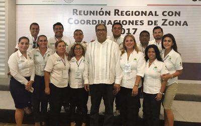 Participa delegación del IEEA Quintana Roo en Reunión Regional de Coordinadores Zona Sur Sureste