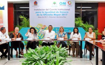 Instala Oficialía Mayor su Comité Institucional para la Igualdad de Género
