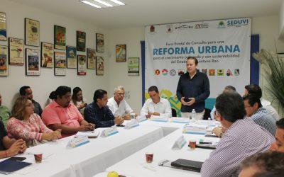 Seduvi impulsa Leyes de Reforma Urbana con todos los sectores de la sociedad
