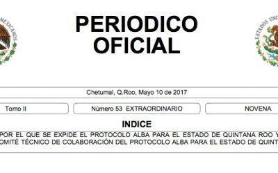 Publica el Periódico Oficial el Protocolo Alba, mecanismo operativo de coordinación inmediata para la localización de mujeres, adolescentes y niñas desaparecidas